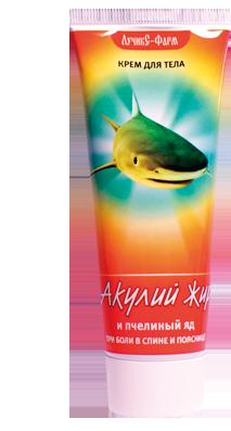 Акулий жир и пчелиный яд Крем от боли в спине и пояснице