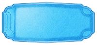Композитная чаша для бассейна WaterWorld Онтарио (стоимость чаши указана для базовой комплектации бассейна)