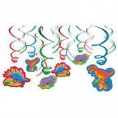 Спираль фольга Динозаврики 12шт 1501-3583
