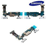 Шлейф для Samsung Galaxy S5 G900V, коннектора зарядки, с компонентами, оригинал