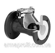 Клапан обратный канализационный чугунный фланцевый арт. 400 ZETKAMA Ду50 Ру16