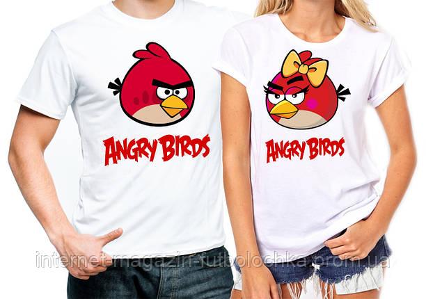 """Парные футболки """"Angry Birds"""", фото 2"""