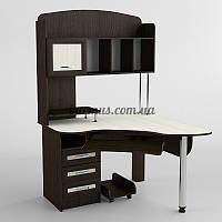 Компьютерный стол с полками, угловой Ск-226, венге- магия+ дуб молочный