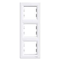 Рамка 3-постовая вертикальная Schneider Electric Asfora, белая