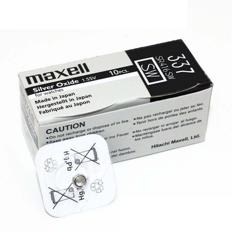 Часовая батарейка Maxell 337/ SR416SW