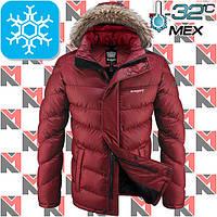 Мужские зимние куртки с мехом - 2-1882 красный