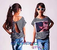 Детская футболка для девочки Пиратик