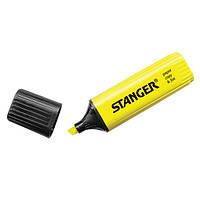 Текстовыделитель STANGER, широкая линия 1-5 мм, желтый (180001000)