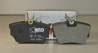 Дисковые тормозные колодки на Renault Trafic 2001-2014 (задние) — NRD - N124