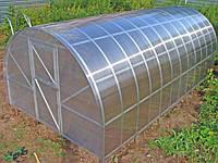 "Теплица ""Удачная-2"" из оцинкованого М-профиля под поликарбонат, каркас, размер: 3х4х2 м"