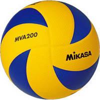 Мяч волейбольный Mikasa MVA200 оригинал, жёлто-синий, фото 1