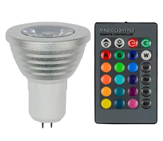 Светодиодная лампа Spot RGB MR16 G5.3 с пультом Код.58728