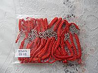Браслет-оберег красная нить с крестиком в камушки