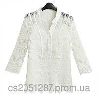 Кружевная блузка с маечкой