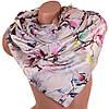 Нежный женский шарф атласный двусторонний 166 на 67 см ETERNO (ЭТЕРНО) ES0406-7-10 бежевый