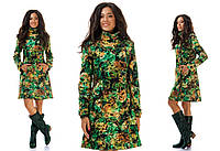 Платье весеннее в перьях 0053 ИК