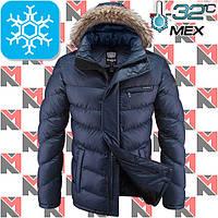 Зимняя куртка мужская с мехом - 2-4219 синий