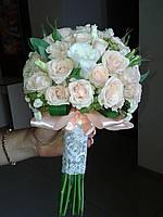 Свадебный букет из мелкой розочки