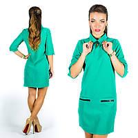 Бирюзовое платье 15571