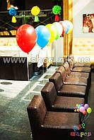 Разноцветные гелиевые шары надутые гелием