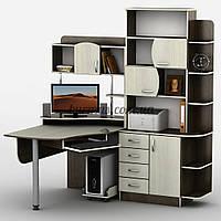 Компьютерный стол с шкафом-пеналом, Тиса-8, венге магия+ дуб молочный