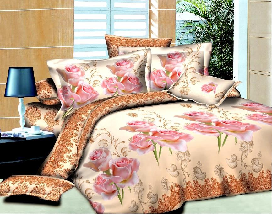 Двуспальный комплект постельного белья Нежная Роза