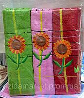 Рушник махровий банний -соняшник