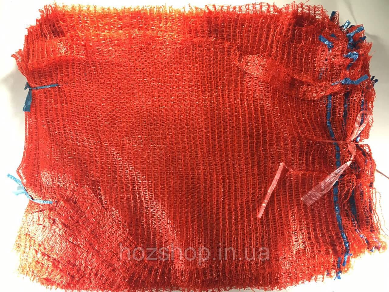Сітка овочева (21x31) 3 кг червона з ручкою