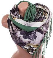 Очаровательный женский двусторонний палантин из шелка и шерсти 176 на 45 см Eterno ES2707-2-7 разноцвет