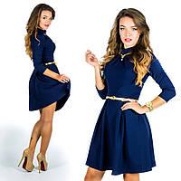Темно-синее платье 15578