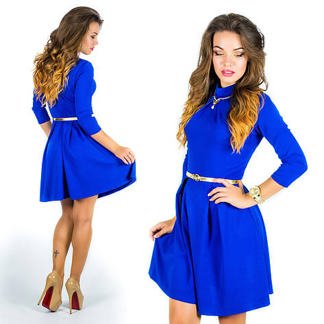Платье 15578, цвет электрик, фото 2