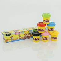Тесто для лепки 6603-6 350г 6 цветов