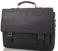 Мужской деловой кожаный портфель ROCKFELD (РОКФЕЛД) DS20-020520 Черный