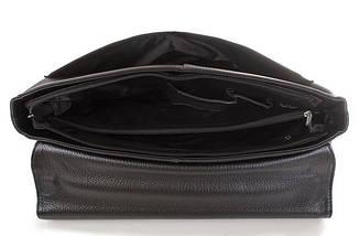 Мужской деловой кожаный портфель ROCKFELD (РОКФЕЛД) DS20-020520 Черный, фото 3
