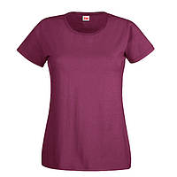 Бордовая женская футболка (Комфорт)