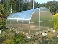 Теплица термос из оцинк. квадратного проф. 30х30мм под поликарбонат, каркас, размер: 4х6х2.5 м