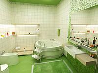 Ванная в зеленых тонах, фото 1