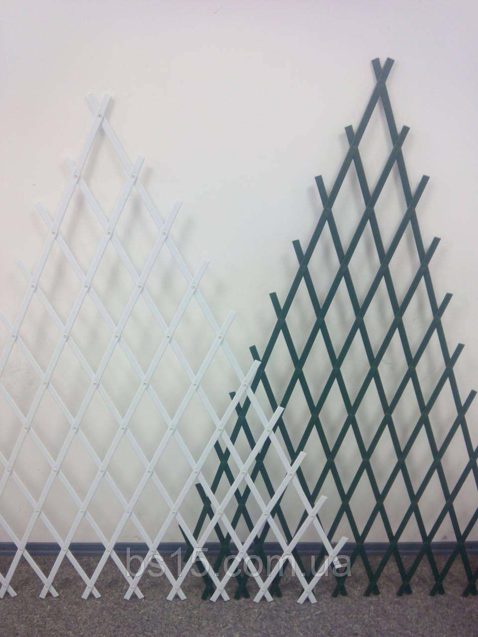 Шпалера садовая пирамидальная 1.5х1.0м белая,зеленая опора для растений с доставкой по Украине, фото 1
