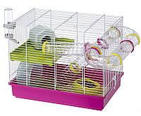 Ferplast LAURA Двухэтажная клетка для хомяков, в комплекте с туннелями