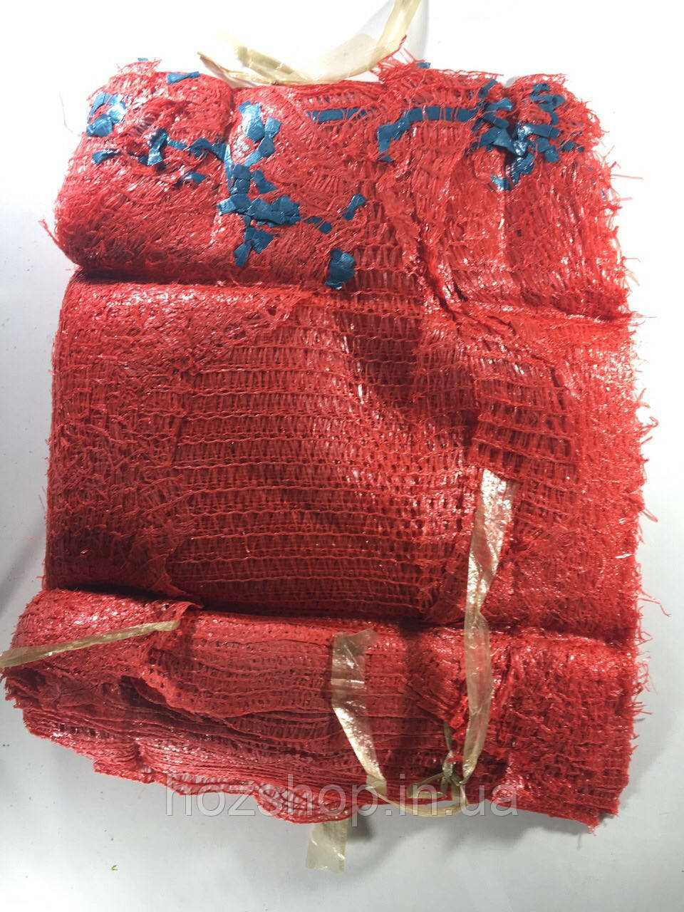 Сетка овощная (30x47) 10 кг красная с ручкой