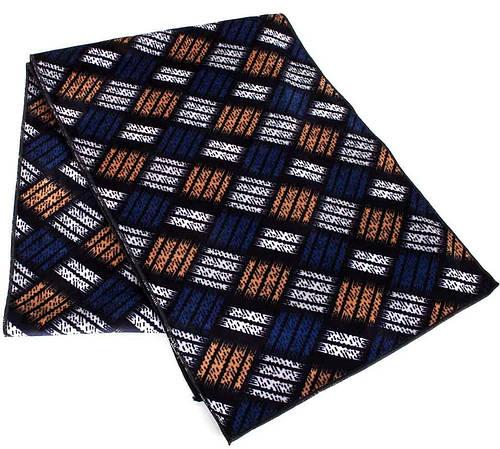 Оригинальный мужской флисовый шарф 174 на 32 см ETERNO (ЭТЭРНО) ES2207-4 синий