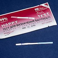 """Тест-полоска """"Happy test"""" ультра для определения беременности, высокочувствительная, 10mlU/ml"""