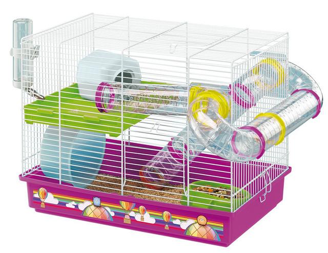 Ferplast LAURA DECOR Клетка для хомяков, с декоративным рисунком, в комплекте с туннелями