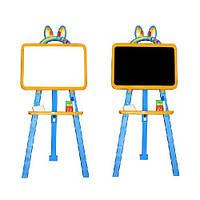 Мольберт доска для рисования двухсторонний желто-голубой