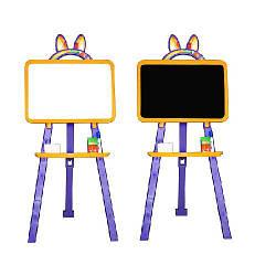 Мольберт доска для рисования двухсторонний желто-фиолетовый