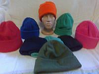 Теплые двойные флисовые шапки - трансформер