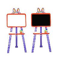 Мольберт доска для рисования двухсторонний красно-фиолетовый