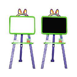 Мольберт доска для рисования двухсторонний салатово-фиолетовый