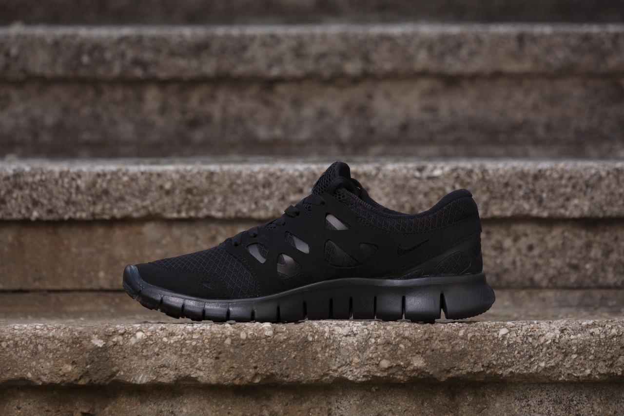 Кроссовки мужские Nike Free Run 2 D599 чёрные - Брендовая одежда от  интернет-магазина « 37ed614ee2d0f