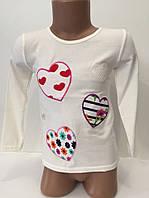 Кофта для девочки с сердцами р.7-8 лет